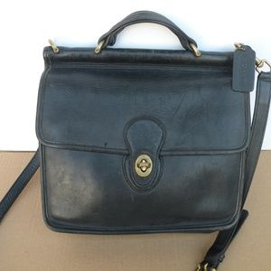 VINTAGE COACH DISTRESSED LEATHER WILLIS BAG